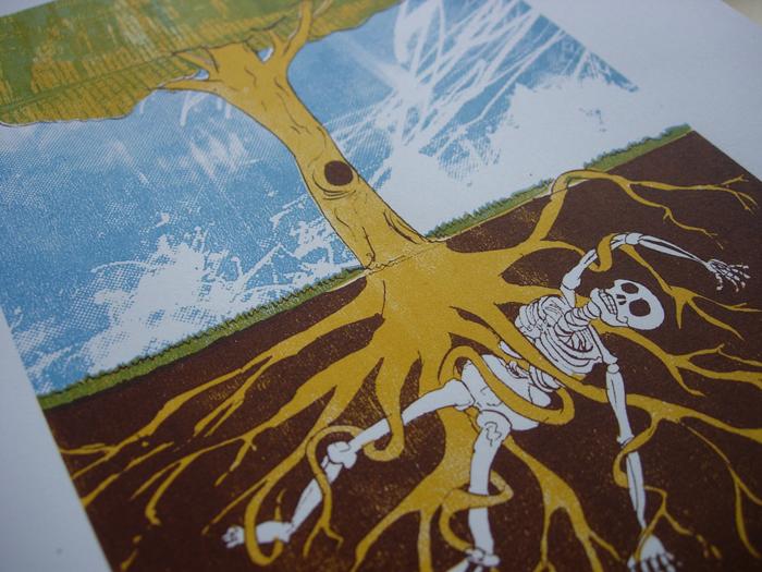Skeleton Tree Screenprint