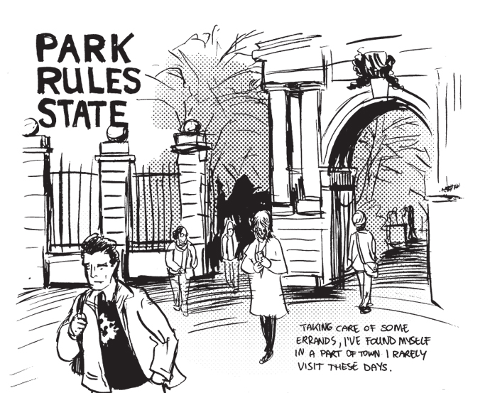 """Park Rules State"", opening panel"